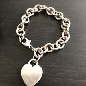 Original Round Link With Heart Bracelet